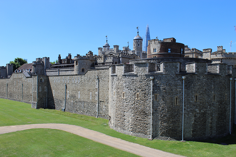 The Tower of London, with the Shard in the background.