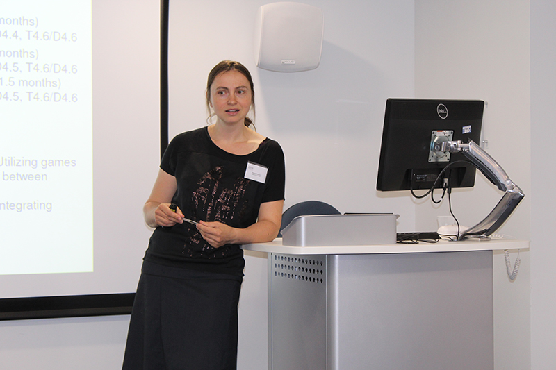 Katerina Stankova speaking at the London 2017 workshop.