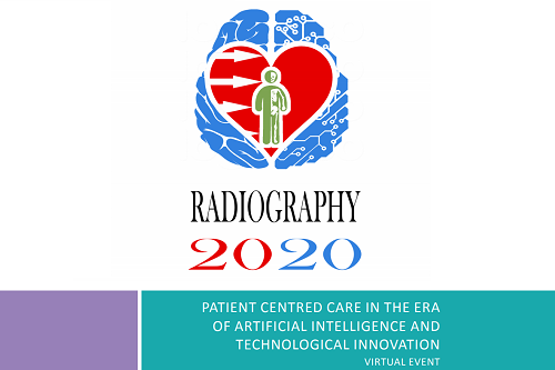 Logo of the Radiography 2020 event organised by the Department of Radiography at City, University of London