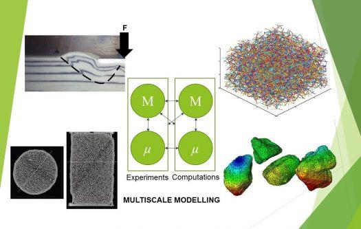 Granular materials models