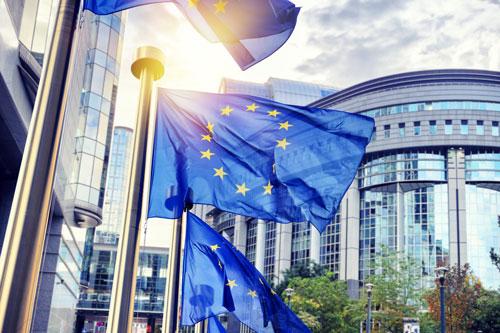 EU flag flying