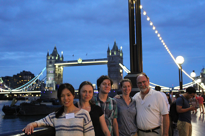 Some of the speakers standing in front of Tower Bridge.