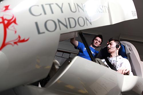 City's Merlin flight simulator