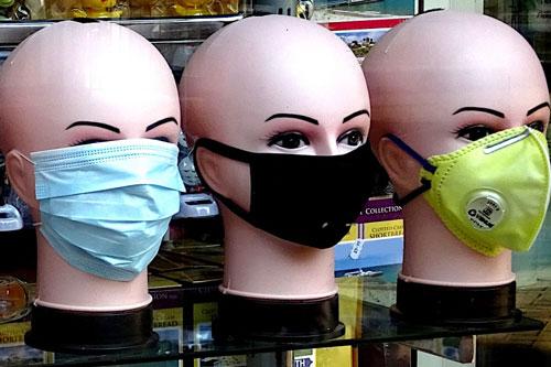 Coronavirus face masks on sale
