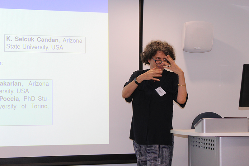 Maria Louisa Sapino speaking at the London 2017 workshop